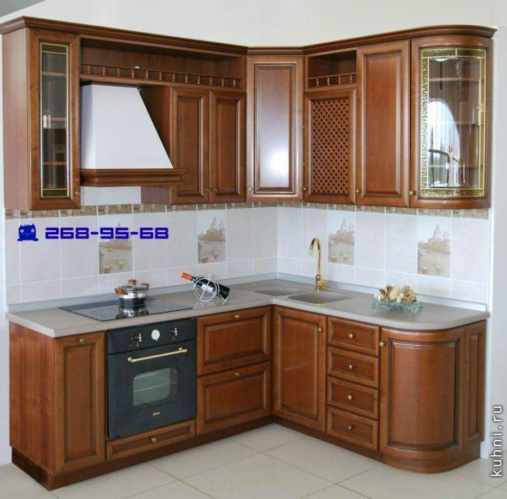 угловая кухня фото классика